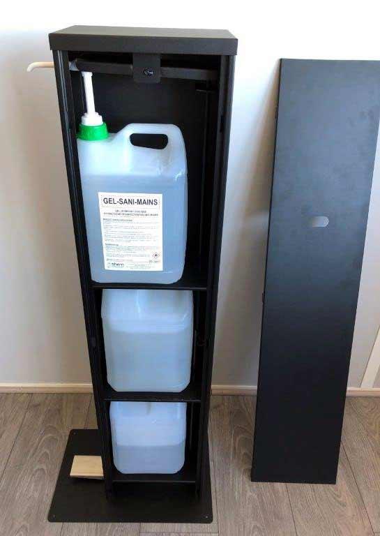Decorpeint distributeur de gel hydroalcoolique sur pied 5 litre