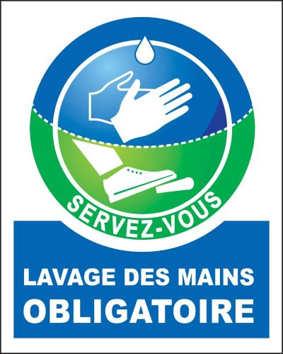 Decorpeint - lavage des mains obligatoires